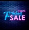 vintage black friday sale emblem vector image vector image