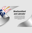 waving ribbon or banner with flag province of vector image vector image