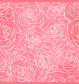 wedding seamless pattern background with roses vector image vector image