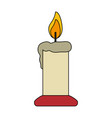 White background with candle lit