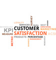 Word cloud customer satisfaction vector image