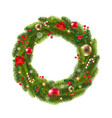 wreath fur tree vector image vector image