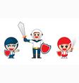 Children superhero vector image