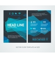 Flyer Design Templates Abstract Geometric Wave vector image