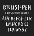 handwritten brush painted font vector image