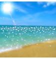 Sea beach and sun vector image