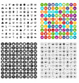 100 car company icons set variant vector image vector image