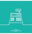 Abstract background with the cash register vector image