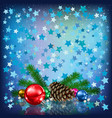 abstract christmas background with pine cone vector image vector image
