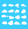 abstract clouds signs cartoon icon set vector image
