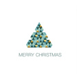 abstract geometry concept christmas tree green vector image vector image
