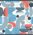 abstract shapes elements cool colorful vector image