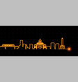 addis ababa light streak skyline vector image vector image