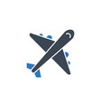airplane related glyph icon vector image vector image