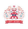 baby toy panda isolated picture vector image vector image