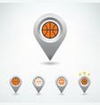 basketball pin vector image vector image