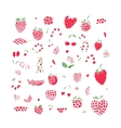 Berries collection sketch for your design vector image vector image