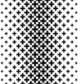 Black and white greek cross pattern background vector image
