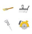 brush spatula caliper hand circular build and vector image vector image