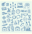 business doodle icons vector image