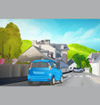 car travel vector image vector image