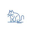 cat line icon concept cat flat symbol vector image vector image