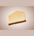 cheesecake realistic vector image