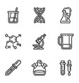 chemistry lab icon set outline style vector image vector image