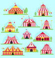 circus tent facade marquee marquee stripes vector image vector image