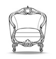 classic imperial baroque round armchair vector image vector image
