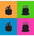 Colored happy birthday squares background with vector image vector image