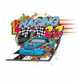cool racing vector image vector image