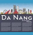 da nang vietnam city skyline with color buildings vector image vector image