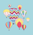 design template with hot air balloons vector image vector image