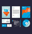 different business identity elements set corporal vector image