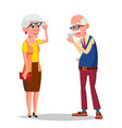 elderly couple modern grandparents vector image vector image