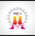 fashion background with creative shoe vector image vector image