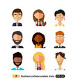 flat icons avatars users office business people vector image vector image