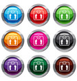 floor scales set 9 collection vector image vector image
