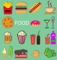 Food episode collection vector image