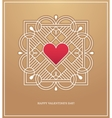 Golden heart frame for love design concept