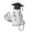 graduation unpainted nested russian dolls on vector image vector image