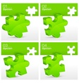 Green puzzles vector image vector image