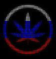 halftone russian cannabis icon vector image vector image