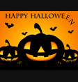 happy halloween card with jack-o-lantern vector image
