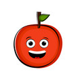 happy orange cartoon character emote vector image
