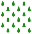 holiday background seamless xmas green tree vector image vector image