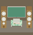 home cinema flat style vector image