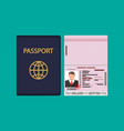id card icon identity card national card vector image