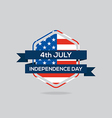 Independence day badge flat design vector image vector image